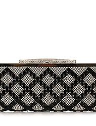 L.WEST®  Women's  Event/Party / Wedding / Evening Bag Diamonds Corrugated Diamonds Delicate Handbag