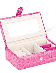 Toonykelly® Pink Leather Jewelry Display Storage Pack Box(Pink)(1PC)