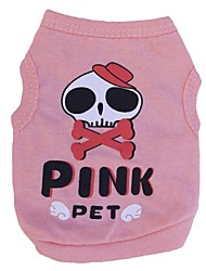 Cat / Dog Costume / Shirt / T-Shirt / Outfits Pink Dog Clothes Spring/Fall Skulls / Hearts Cosplay / Halloween