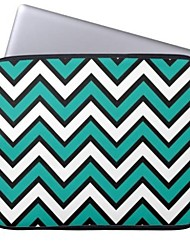 """Elonbo The Wave Pattern 15"""" Laptop Neoprene Protective Sleeve Case for Macbook Pro Retina Dell HP Acer"""