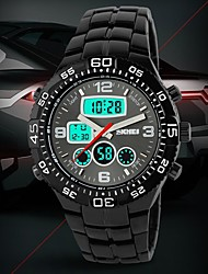 Men's Tough Design Multifunctional Analog-Digital Steel Band Wrist Watch