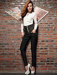 Women Tall Waist Cultivate One's Morality Waist Jeans Pants