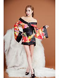 kimono japonés estilo de impresión camisa de dormir atractiva de las mujeres DIOS