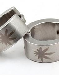 plata personalidad pendientes patrón de titanio sol de acero de los hombres