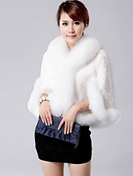 Women Faux Fur Shawl & Wrap/Top