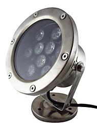 9W 9 lysdioder IP68 vattentät utomhus vita LED undervattensbelysning (12V)