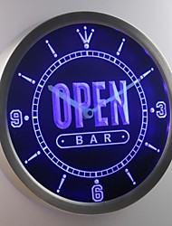 nc0420 barra libre de cerveza en casa de neón signo llevó reloj de pared