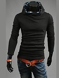 мужская мода цвет соответствия сетки водолазки капюшоном