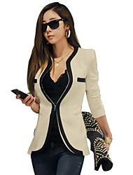 Das CHAOLIU Moda Feminina Contraste Cor cabido Outwear