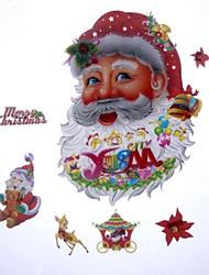 42 * 27cm de fantaisie décoration de noël le père noël autocollants