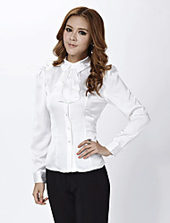 camisa de algodón básica o señora de la oficina señora de la oficina de desgaste de las mujeres formales