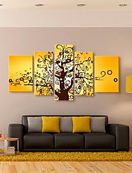 Stretched Canvas Art Lucky Tree Decorative Set of 5