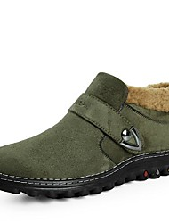 Men's Shoes Snow Flat Heel Suede Boots with Slip-on More Color available