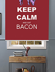 Philosophic Classic Words Keep Calm And Eat Bacon Roller Shade