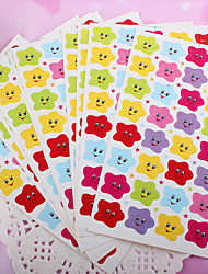 Star Smile Scrapbooking Decorate Stickers(10PCS)