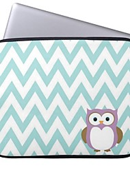 Elonbo Stripe and Owl 13'' Laptop Neoprene Protective Sleeve Case for Macbook Pro/Air Dell HP Acer