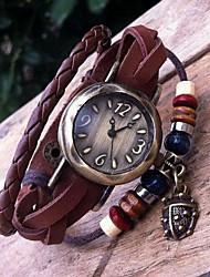 Women's Retro High Quality Beetle Leather Quartz Movement Bracelet Watches