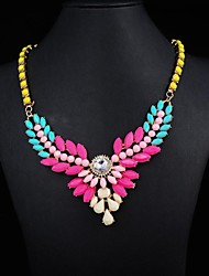 Women's Rainbow Color Crystal Necklace