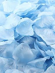 azul claro pétalos de rosa decoración de la mesa (juego de 100 pétalos)