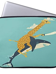 Elonbo Giraffe and Sharks 13'' Laptop Neoprene Protective Sleeve Case for Macbook Pro/Air Dell HP Acer