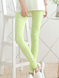 Women's Bright Yellow Plaid Leggings