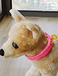 Dog Collar Adjustable/Retractable Pink Plastic