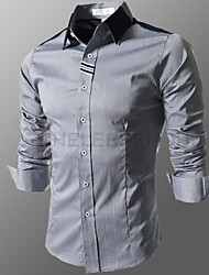 F4 Men's Long Sleeve Slim Causual Shirts