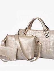 Pulado Women's Fashion Patent Leather Three Piece Set One Shoulder Messenger Bag