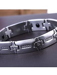 Men's Fashion Personality Radiation Protection Energy Health Protection Titanium Steel Bracelets