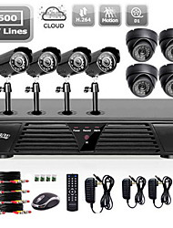 Liview® Full 960H 8CH DVR and Outdoor/Indoor 600 TVLine Camera System