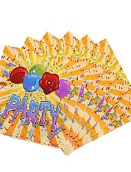 Coway 30*30*1 20 pcs/Package Music Party Birthday Party Party Supplies Paper Napkin