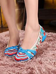 Women's Shoes Old Peking Mary Jane Flat Heel Canvas Flats with Full Embroidery Casual Shoes