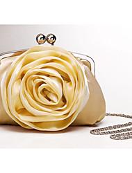 precioso bolso de noche de seda bolsa bolso de embrague (0986-9981)