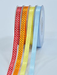 3/8 Inch Polyester Color Buty Belt Printing Ink Dot Three Oblique Dot Ribbon-10 Yard Each Bag