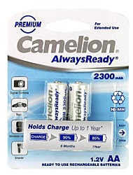 Camelion AlwaysReady 2300mAh Low Self-discharge Ni-MH AA Rechargeable Battery (2pcs)
