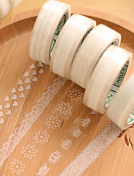 de encaje transparente decorativo cinta adhesivos scrapbooking (10m patrón aleatorio PC 1)