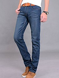 Herren-koreanische Art gerade reine Farbe Jeans