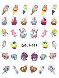 1PCS Sweet Candy Color Ice Cream Nail Art Stickers