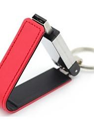 16GB PU Leather Mental USB2.0 Flash Drive