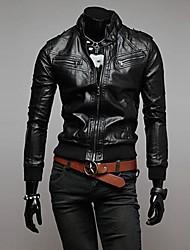 Lesen Men's Stand Collar Fashion Casual Slim Bike Jacket O
