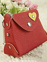 Women PU Casual Key Holder / Coin Purse - White / Pink / Green / Yellow / Red / Black