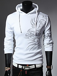 Men's Fashion Print With A Hood Hoodies