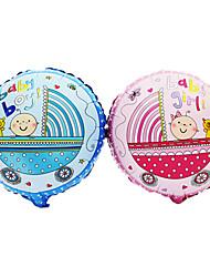 2 PCS Baby Carriage Aluminium Membrane Baby Shower Birthday Party Balloon