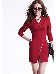De las mujeres Vestido Para Trabajo Mini Poliéster