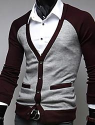 Mode Pulls manches longues Cardigan de loisirs d'hommes