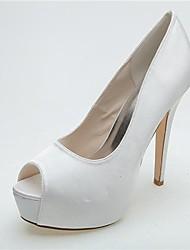 Women's Wedding Shoes Heels/Peep Toe/Platform Heels Wedding/Party & Evening Black/Blue/Pink/Purple/Ivory/White/Silver