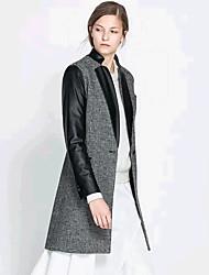 De la mode vrouwen met lange mouwen temperament overjassen