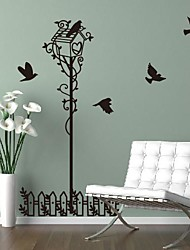Wall Stickers Wall Decals,  Modern Warm fence bird house PVC Wall Stickers