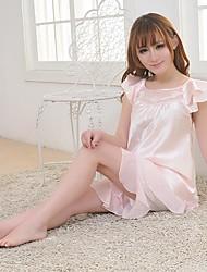 manches courtes mode et le sexe des femmes furuixiang® de soie imité pyjama en tissu fixées