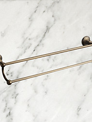 "Towel Bar Antique Brass Wall Mounted 570 x 93mm (22.44 x 3.66"") Brass Antique"